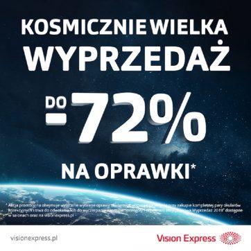 Kosmiczna Wyprzedaż tylko w Vision Express!