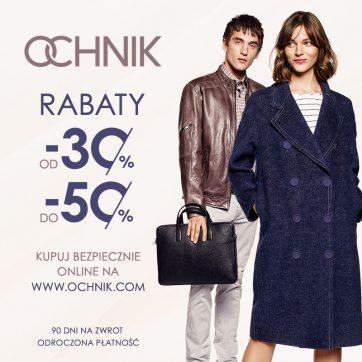 Stylowy Weekend z OCHNIK: Rabaty od -30% do -50%.