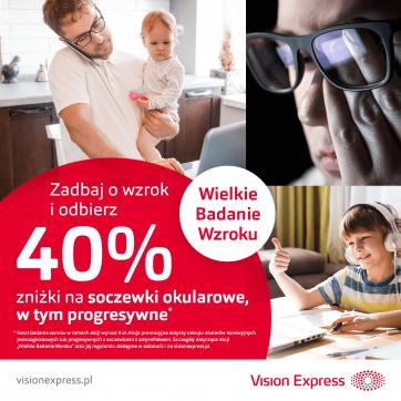 Wielkie Badanie Wzroku w Vision Express!