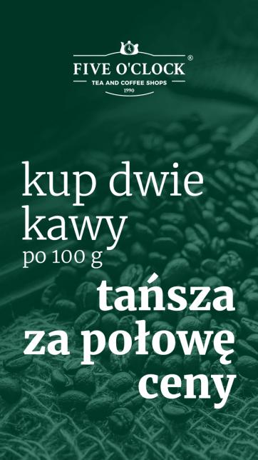 Kup dwie kawy – druga za połowę ceny