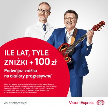 Kultowa promocja powraca do salonów optycznych Vision Express!